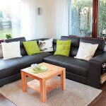 Das Sofa lädt zum Verweilen ein