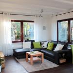 Die Sofa- und TV-Ecke